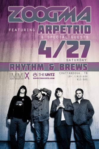 Zoogma featuring Arpetrio @ Rhythm & Brews