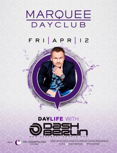 Dash Berlin @ Marquee Dayclub (04-12-2014)