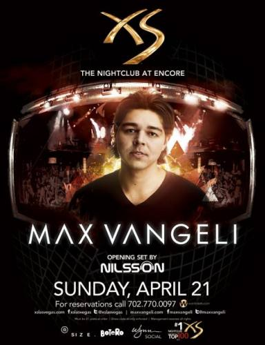 Max Vangeli @ XS Las Vegas