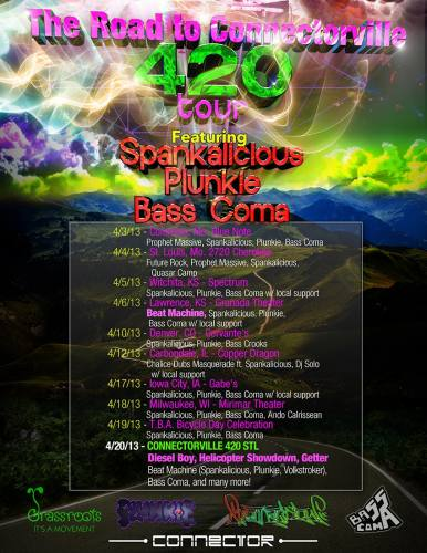 Spankalicious - Plunkie - Bass Coma at Gabe's in Iowa City IA!
