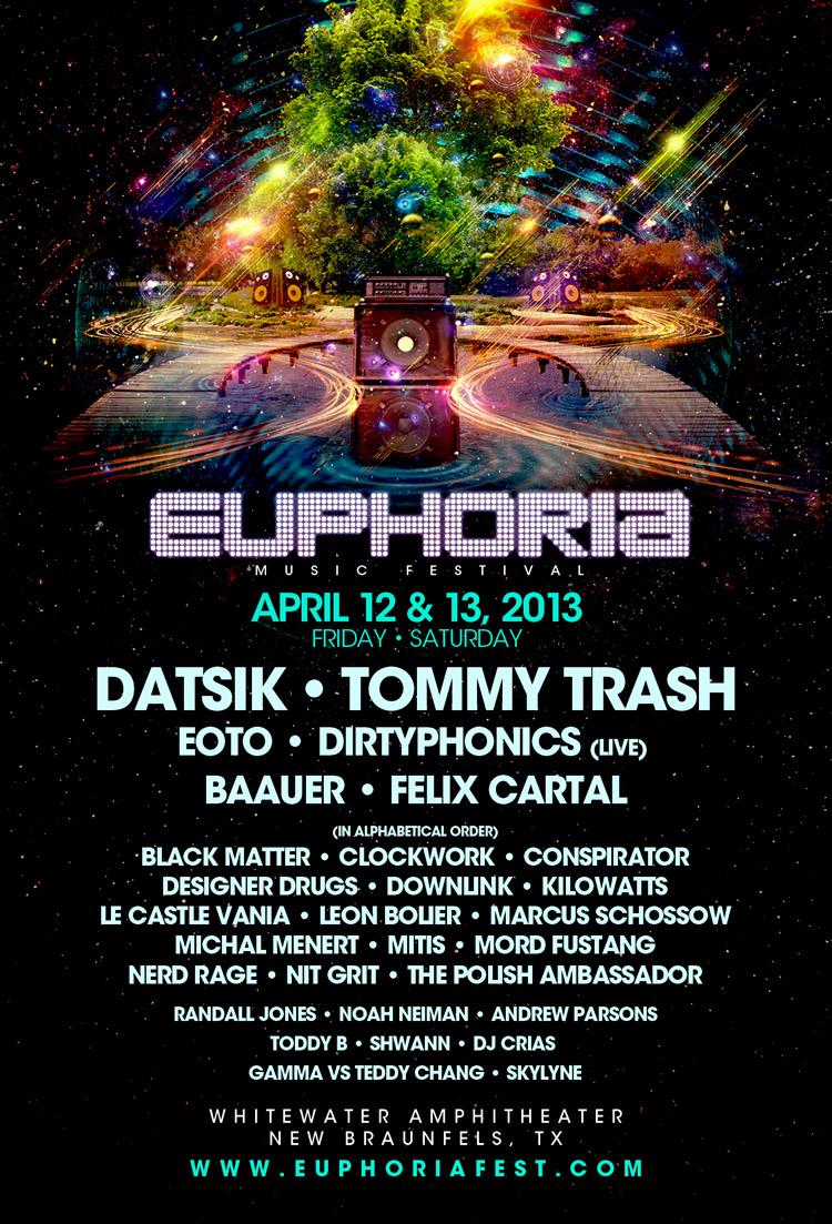 Euphoria music festival 2013 new braunfels tx tickets for Euphoric house music