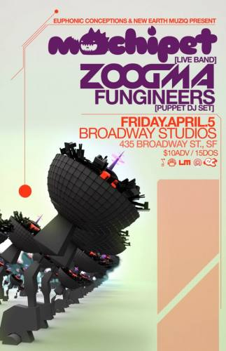 Mochipet [Live Band] with Zoogma & The Fungineers @ Broadway Studios