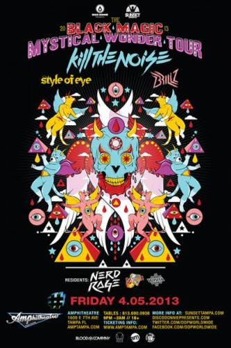 Kill The Noise, Style of Eye, and Brillz @ Amphitheatre Event Facility