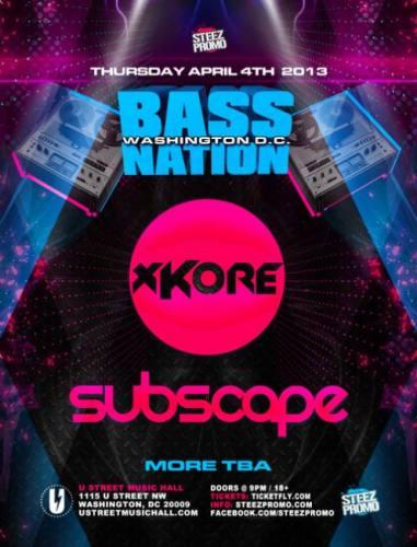 xKore & Subscape @ U Street Music Hall