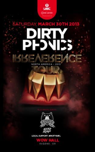 Dirtyphonics, Crizzly, & Nerd Rage @ WOW Hall