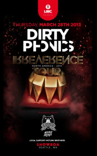 Dirtyphonics, Crizzly, & Nerd Rage @ Showbox at the Market