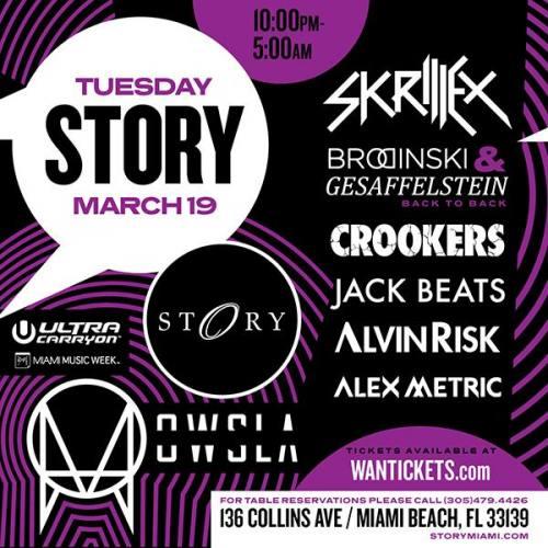 Skrillex @ STORY Miami