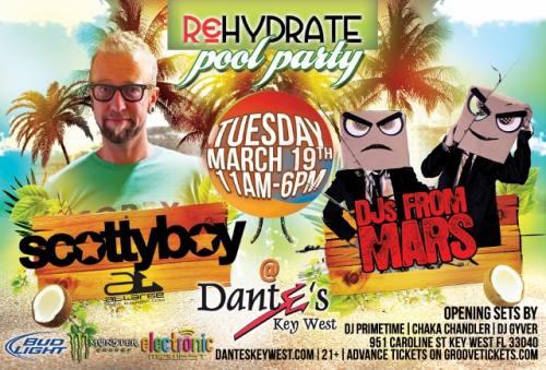 Rehydrate Pool Party Key West w/ Scotty Boy and DJs From Mars