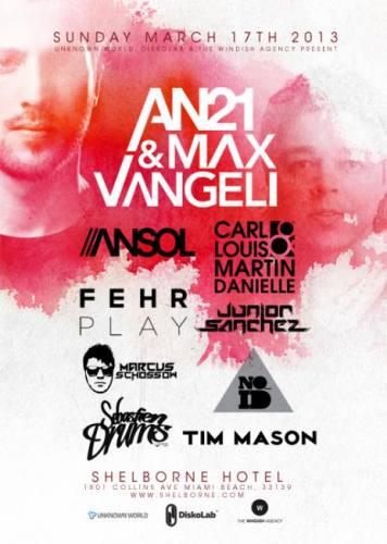 AN21 & Max Vangeli @ The Pool - Shelborne South Beach
