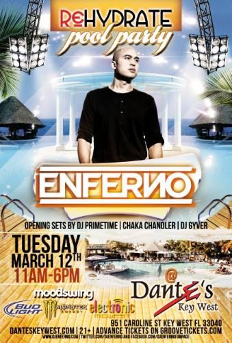 Rehydrate Pool Party Key West w/ Enferno 3/12