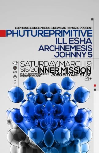 Phutureprimitive, ill-esha, Archnemesis, & Johnny5 @ Inner Mission