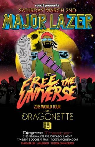 3.2 MAJOR LAZER - DRAGONETTE - ZEBO - FREE THE UNIVERSE WORLD TOUR