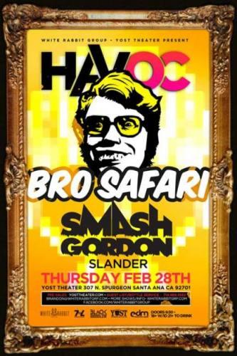 Bro Safari & Smash Gordon @ Yost Theater