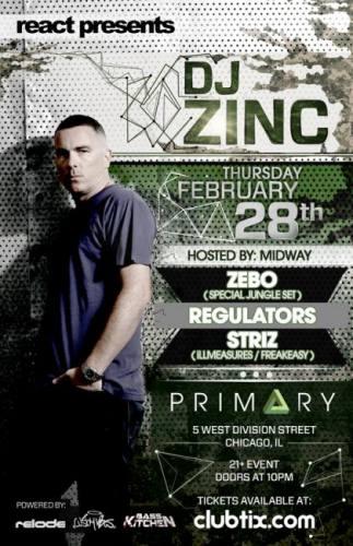DJ ZINC - ZEBO (OLD SCHOOL JUNGLE SET) - REGULATORS - STRIZ