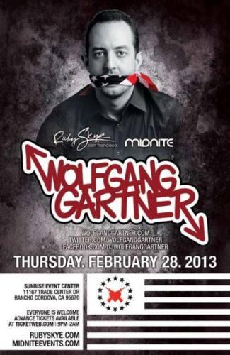 Wolfgang Gartner @ Sunrise Event Center