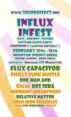 Soundeffect Presents: Influx InFest (Past, Present, Future, Indoor Costume Party)