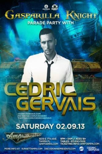 Cedric Gervais @ Amphitheatre Event Facility
