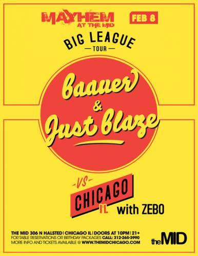 2.8.2013 Baauer - Just Blaze - Mayhem at The Mid