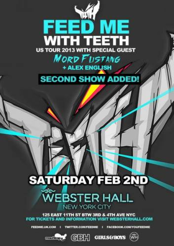 Feed Me w/ Mord Fustang @ Webster Hall (02-02-2013)