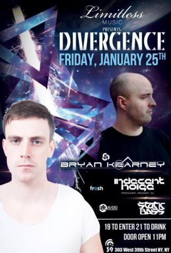 Limitless Music presents Divergence w/ Bryan Kearney, Indecent Noise, Static & Bass
