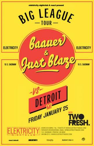 Baauer, Just Blaze, and Two Fresh @ Elektricity