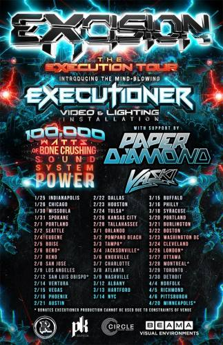 Excision, Paper Diamond, and Vaski @ Egyptian Room at Old National Centre