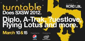 Diplo, Flying Lotus, A-Trak, ?uestlove to headline turntable.fm SXSW parties on 3.10 and 3.15.