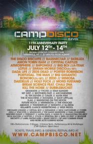 Camp Bisco Eleven: Lineup Announcement