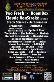 Mint Green Music Festival Announces Full Lineup for August 2012