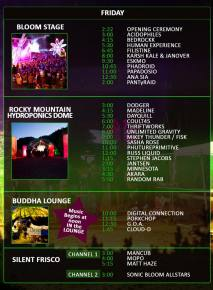 Sonic Bloom 2012 - Official Schedule