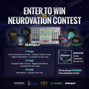 Gravitas Recordings & Psymbionic Launch Neurovation Charity Compilation & Contest