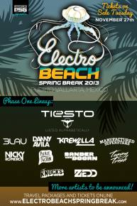 Tiesto, Zedd, & more confirmed for Electro Beach 2013 in Puerto Vallarta