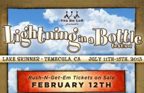 Less than 24 hours remain for Lightning in a Bottle Rush-N-Get-Em Sale