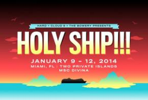 HOLY SHIP!!! sets sail January 9, 2014 from Miami, FL on MSC Divina