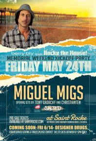 Miguel Migs hits Saint Rocke in Hermosa Beach on May 24th Preview