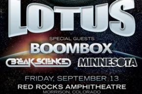 Lotus returns to Red Rocks September 13 with BoomBox, Break Science
