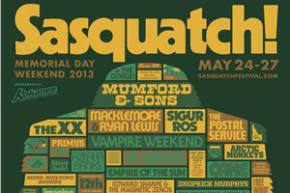 Sasquatch Festival / The Gorge (George, WA) / Day 3 Review 5.26.2013