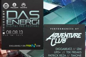 The Untz teams up with Das Energi for Digital Pre-festival on Mixify TODAY