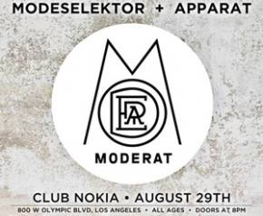Moderat (Modeselektor + Apparat) hits Club Nokia in Los Angeles tomorrow night (Aug 29)