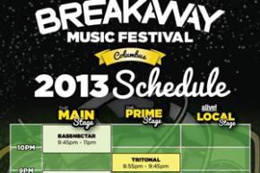 Breakaway Festival reveals schedule for Sept 14 Columbus, OH
