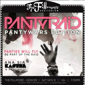 #PANTyWARS: An interview with PANTyRAiD, at Fillmore Denver this Saturday Nov 9