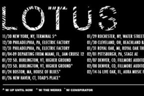 Lotus kicks off winter tour with special Terminal 5 NYC show Preview