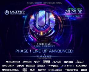Ultra Music Festival (March 28-30 - Miami, FL) reveals Phase 1 lineup