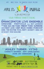 V Elements (April 5 - San Diego, CA) full lineup announced! Preview