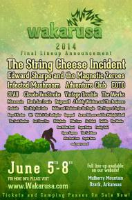 Wakarusa (June 5-8 - Ozark, AR) reveals full lineup with the help of EOTO, String Cheese Incident