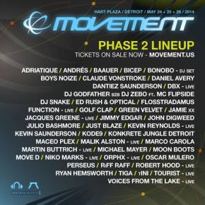 Movement Electronic Music Festival (May 24-26 - Detroit, MI) reveals Phase 2 lineup!