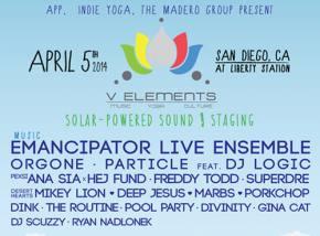 V Elements (April 5 - San Diego, CA) Mixtape featuring Particle, Emancipator