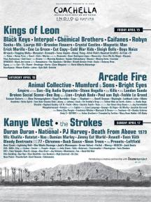 Coachella Music Featival: 2011 Lineup Revealed