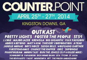 CounterPoint Festival (April 25-27 - Kingston Downs, GA) reveals daily schedule! Preview