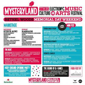 Mysteryland USA 2014 (May 24-25 - Bethel Woods, NY) Preview